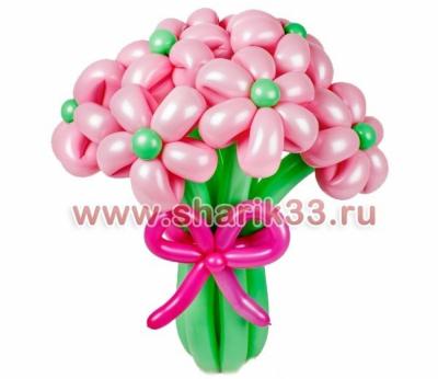 Розовые ромашки (9 шт)