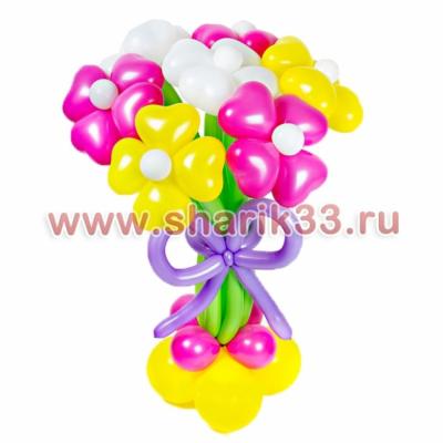Стойка из шаров 7 цветков