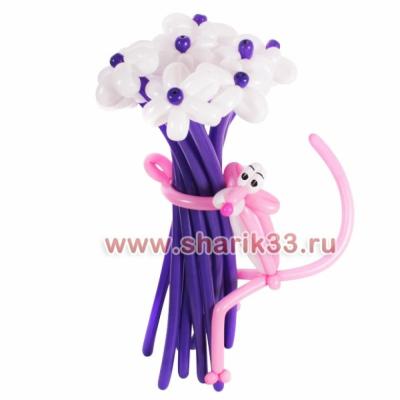 Букет из шаров: Розовая пантера