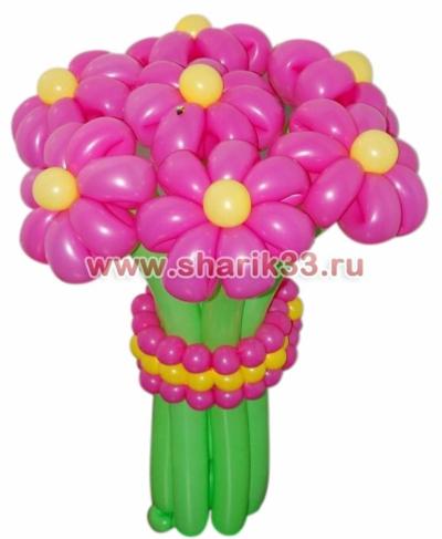 Малиновый букетик (7 цветков)