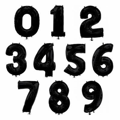 Большие черные фольгированные цифры