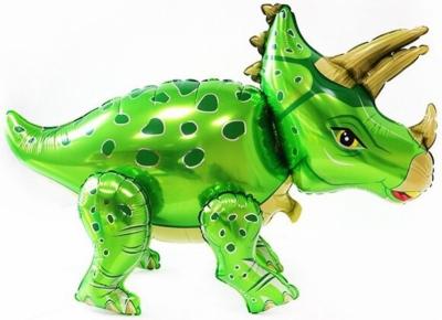 Динозавр Трицератопс зеленый