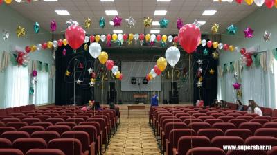 Оформление школьного зала на выпускной №10