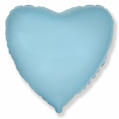 Голубое сердце (гелиевый шар)