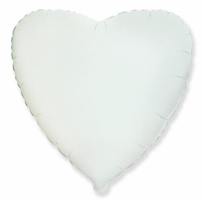 Белое сердце (гелиевый шар)