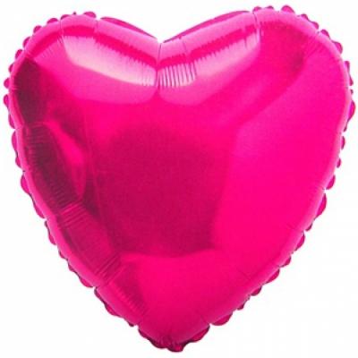 Малиновое сердце (гелиевый шар)