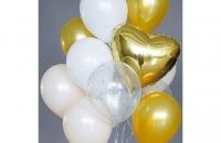 Золотое сердце (гелиевый шар)