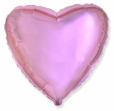 Розовое сердце (гелиевый шар)
