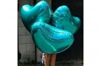 Бирюзовое сердце (гелиевый шар)