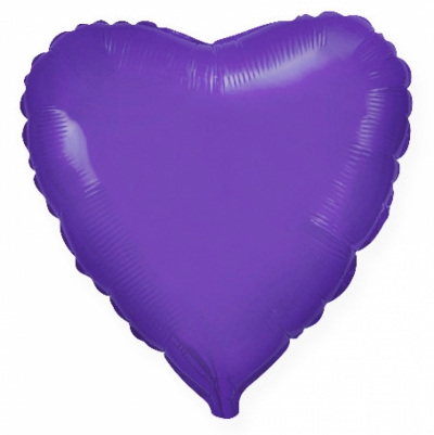 Фиолетовое сердце (гелиевый шар)