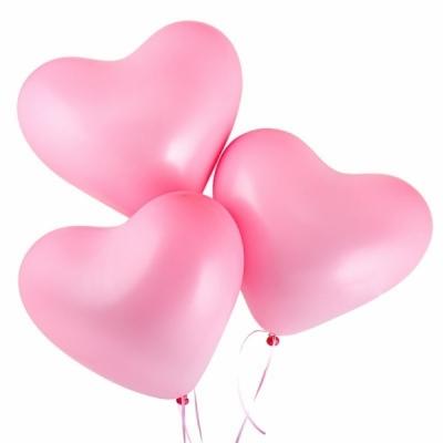 Розовые сердца гелиевые шары