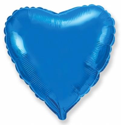 Синее сердце (гелиевое)