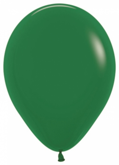 Темно-зеленые гелиевые шарики