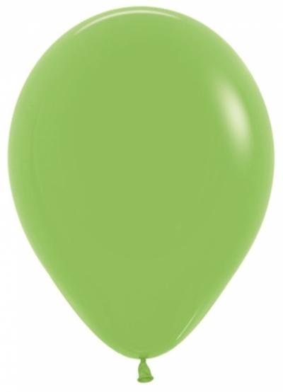 Салатовые гелиевые шарики
