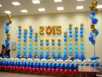 Оформление выпускного в школьном зале №14