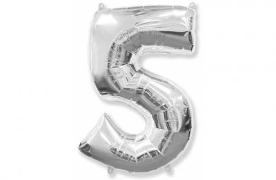 Большая цифра 5 (гелиевая)