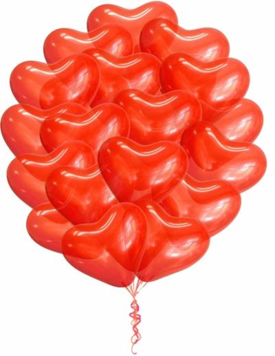 Связка из 19 гелиевых сердец