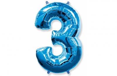Большая цифра 3 (гелиевая)