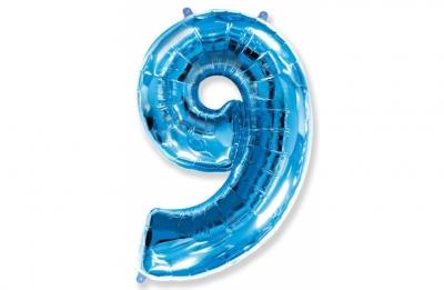 Большая цифра 9 (гелиевая)