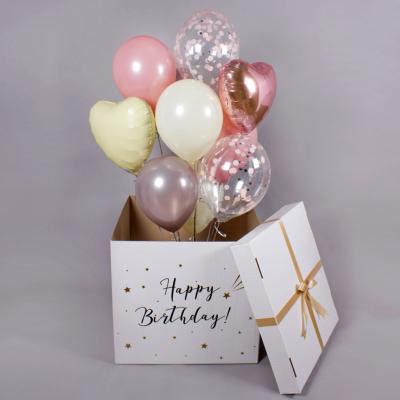 Коробка с гелиевыми шарами
