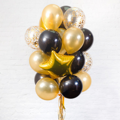Золотая связка из шаров