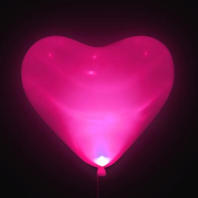 Светодиодные сердечки (розовые)