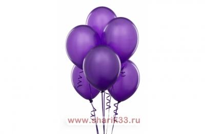 Фиолетовые гелиевые шарики
