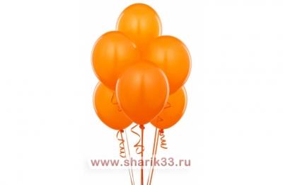 Оранжевые гелиевые шарики