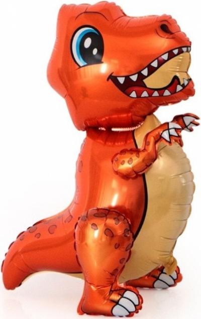 Динозавр оранжевый