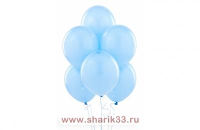 Светло-голубые гелиевые шарики