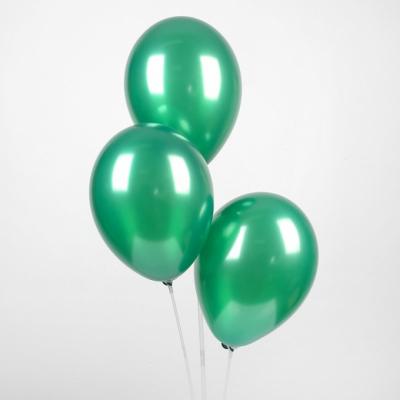 "Зеленые гелиевые шары ""металлик"""