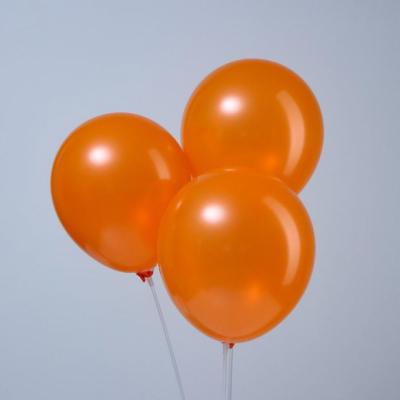 """Оранжевые гелиевые шары """"металлик"""""""