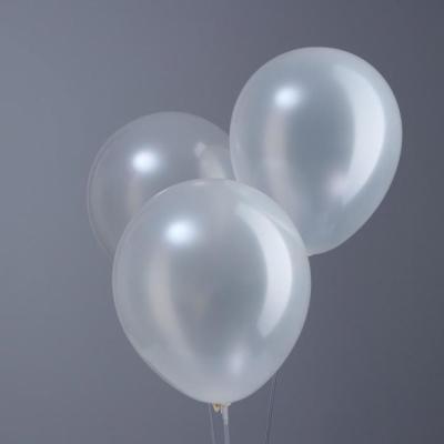 """Белые гелиевые шары """"металлик"""""""