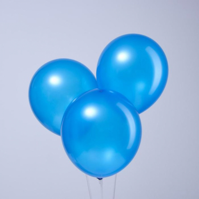 "Синие гелиевые шары ""металлик"""