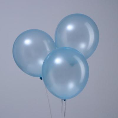 """Голубые гелиевые шары """"металлик"""""""