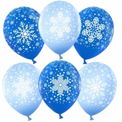 Гелиевые шары со снежинками