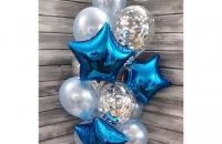 Синяя звезда (гелиевая)