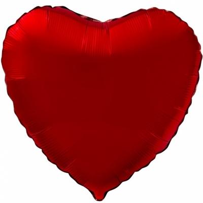 Красное сердце (гелиевое)