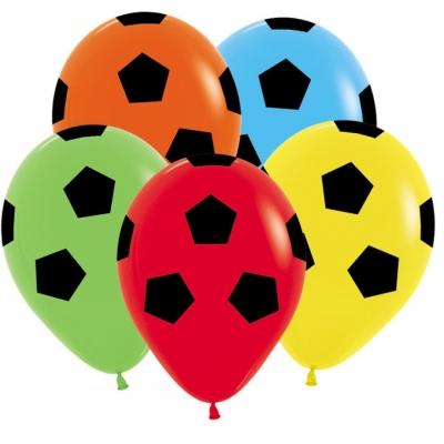 Гелиевые шары - футбольные мячи (ассорти)