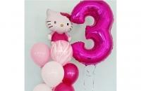 Большая цифра 3 (малиновая)