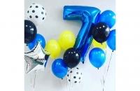 Большая цифра 7 (синяя)