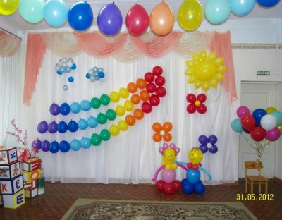 Оформление детского сада шариками №50