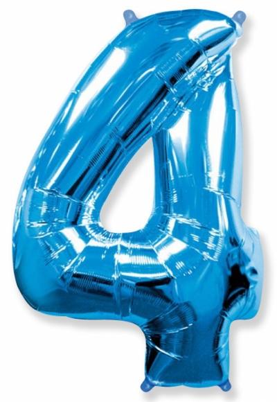 Большая цифра 4 (синяя)