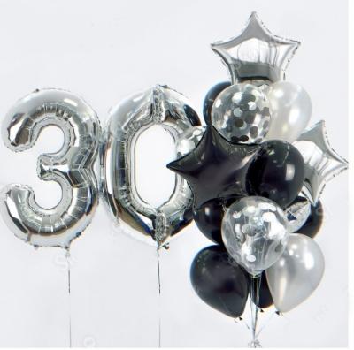 Цифра 30 + фонтан