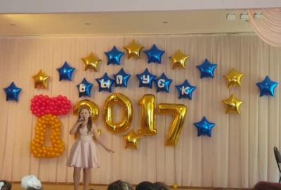 Оформление выпускного в школе воздушными шарами №29