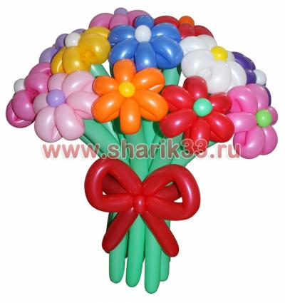 Букет 15 разноцветных цветков