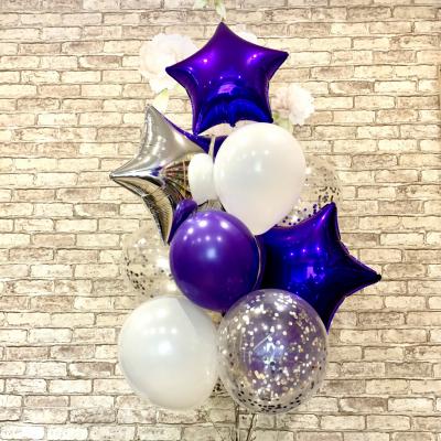 Серебристо-фиолетовый набор