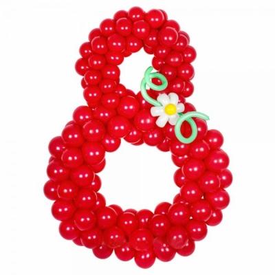 Цифра 8 из маленьких шариков