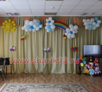 Оформление детского сада на выпускной №103