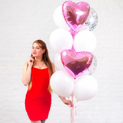 Набор с розовыми сердцами